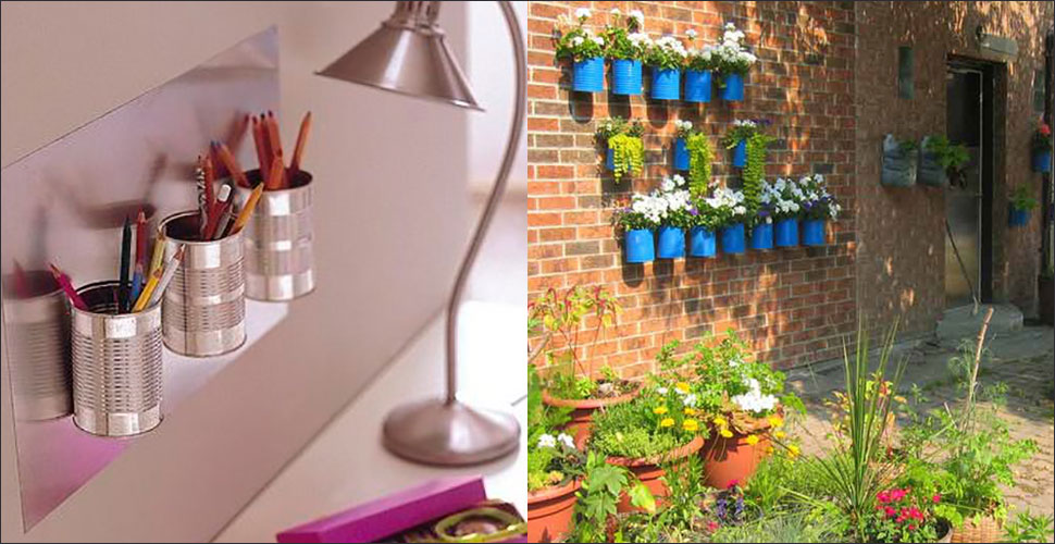 jardim vertical latas:Decoração com latas – Revista VerticalRevista Vertical